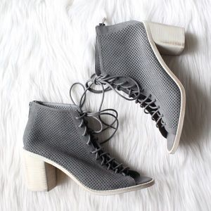 NEW Dolce Vita Monroe Perforated Lace Up Bootie